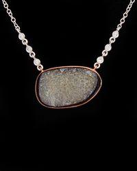 Meira T 14k & Silver 9.19 Ct. Tw. Diamond & Druzy Necklace