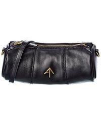 MANU Atelier Cylinder Leather Shoulder Bag - Black