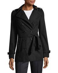 Burberry Sandringham Short Heritage Trench Coat - Black