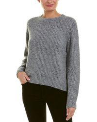 Vince Cropped Wool-blend Pullover - Gray