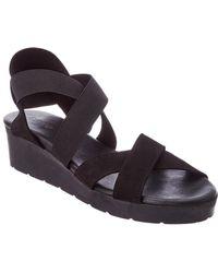 Arche Malyak Nubuck Leather Wedge Sandal - Black