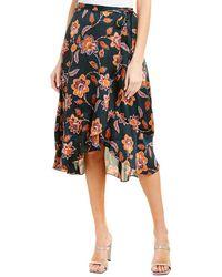 BCBGMAXAZRIA - Floral Wrap Skirt - Lyst