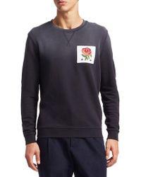Kent & Curwen Rose Patch Sweatshirt - Blue