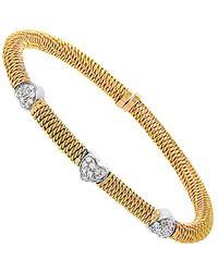 Hermès 18k Two-tone 0.30 Ct. Tw. Diamond Bracelet - Metallic