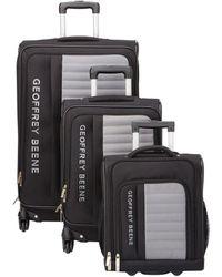 Geoffrey Beene Adventure Collection 3pc Luggage Set - Black