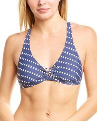 Krimson Klover Nalu Bikini Top - Blue