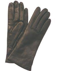 Portolano Women's Grey Leather Gloves