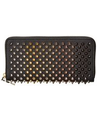 62881a8acc7 Christian Louboutin Macaron Spiked Flap Wallet in Purple - Lyst