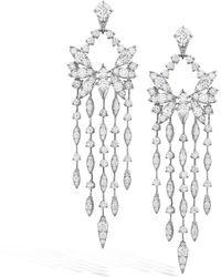 Hearts On Fire 18k 11.08 Ct. Tw. Diamond White Kites Bird Earrings