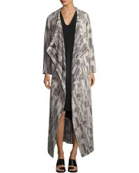 Where To Buy Buy Cheap Best Wholesale Lee Floor-Length Metallic Striped Cardigan Zero + Maria Cornejo Wholesale Best Prices Sale Online Clearance The Cheapest S1sB8x0p
