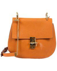 Chloé - Brown Leather Medium Drew Shoulder Bag - Lyst