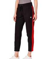 Champion Colorblock Reverse Weave Slim Pant - Black