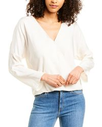 Vince Crossover Blouse - White