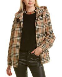 Burberry Vintage Check Hooded Jacket - Black