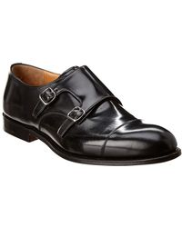 Church's Detroit Monk Strap Leather Shoe - Black