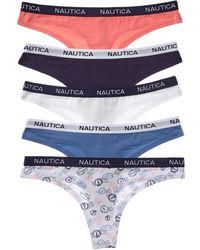 Nautica Set Of 5 Pay Thong - Blue