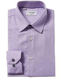 Duchamp Tailored Fit Dress Shirt - Purple