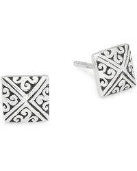 Lois Hill - Square Stud Earrings - Lyst