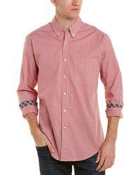 J.McLaughlin Carnegie Woven Shirt - Red