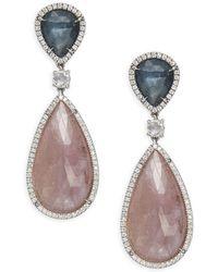 Marco Bicego - Unico Diamond, Sapphire & 18k Gold Earrings - Lyst