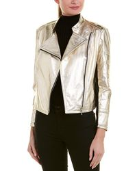 Yigal Azrouël Metallic Leather Jacket