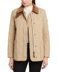 Burberry Cotswold Quilted Barn Jacket, Beige - Natural