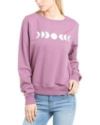 Wildfox Moon Phases Baggy Beach Jumper Sweatshirt - Purple