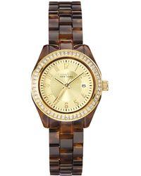 Caravelle NY Caravelle New York Women's Tortoise Watch - Metallic