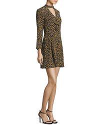 10 Crosby Derek Lam - Floral Cascade Bell-sleeve Silk Choker Dress - Lyst