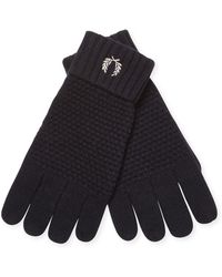 Fred Perry Pique Ribbed Gloves - Blue