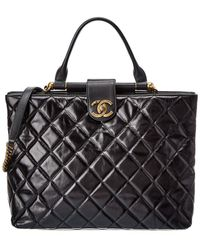 Chanel Black Quilted Calfskin Leather 2way Satchel