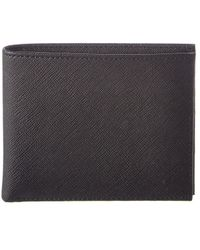 Brooks Brothers - Stripe Leather Billfold - Lyst