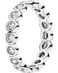 PANDORA - Silver Alluring Brilliant Ring - Lyst
