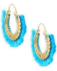 Panacea - Fringe Hoop Earrings - Lyst
