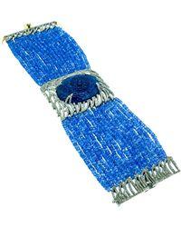 Arthur Marder Fine Jewelry Silver 96.50 Ct. Tw. Diamond & Tanzanite Bracelet - Blue