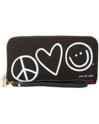 Peace Love World - Patches Zip Around Wristlet Wallet - Lyst