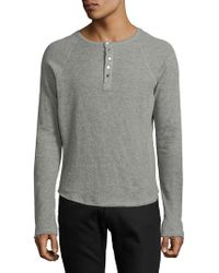 Joe's - Raglan-sleeve Cotton Henley - Lyst