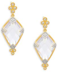 Freida Rothman - Visionary Fusion Crystal And Sterling Silver Drop Earrings - Lyst