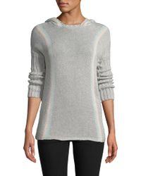 27milesmalibu Stripe Sweater Hoodie - Gray