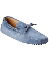 Tod's Gommino Suede Loafer - Blue