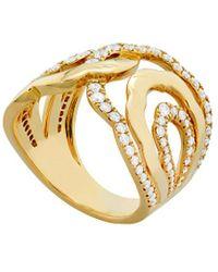 Hearts On Fire 18k 0.93 Ct. Tw. Diamond Lorelei Interlocking Ring - Metallic