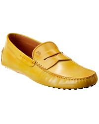 Tod's Gommino Leather Loafer - Yellow