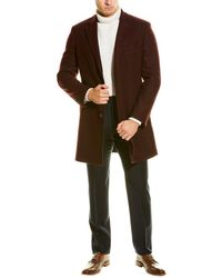 English Laundry Wool-blend Overcoat - Multicolour