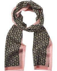 Ferragamo Gancini Wool Scarf - Multicolour