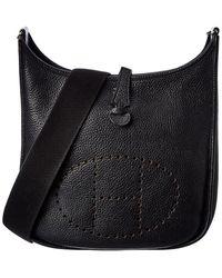 Hermès Black Togo Leather Evelyne I Pm
