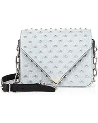 Alexander Wang - Prisma Envelope Small Studded Denim Crossbody Bag - Lyst