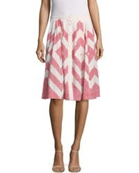 Plenty by Tracy Reese | Placement Graphic Skirt | Lyst