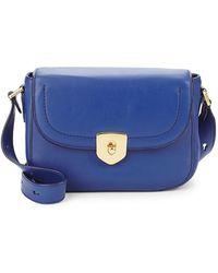Cole Haan Marli Mini Leather Saddle Bag - Blue