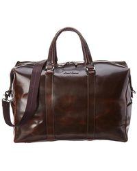 Robert Graham Paton Leather Duffel Bag - Brown