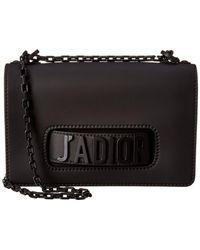 Dior J'a Leather Shoulder Bag - Black